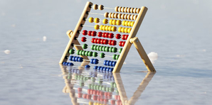 Image of abacus in water