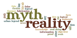 Text graphic describing Myth v Reality