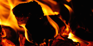Photo of burning embers